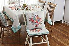 fanjow® Baumwolle Leinen Tischdecke Hohe Gewicht Deko Tisch Bezug für Thanksgiving Tischdecke Hochzeit Tischdecke für Dinner Partys Picknicks, Baumwoll-Leinen, Schmetterling/Blume, Pillow Case(45*45cm)