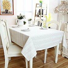 fanjow® Baumwolle Leinen Tischdecke Rechteck Dekor Platte Staubfrei, Tisch Cover für Küche Esszimmer Pub Tabletop Dekoration, Baumwoll-Leinen, Beige Reindeer, 140cm*200cm