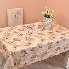 """fanjow® Blumen Tischdecke aus Polyester, schmutzabweisend leichteres Tischdecke Blüten Rechteck Tischdecke Tisch Cover für Küche, Polyester-Mischgewebe, Coffee Rose, 120cm*180cm/47""""*70"""