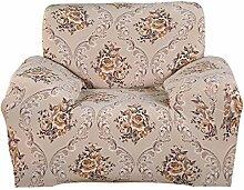 fanjow Easy Fit Stretch Sofa Schonbezug Sofa Couch abdeckt, Sitz Protektoren Elastic Stuhl Bettüberwurf Polyester Spandex Stoff Bettüberwurf ohne Kissen, Flower Pattern, 1-seat Chair