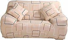fanjow Easy Fit Stretch Sofa Schonbezug Sofa Couch abdeckt, Sitz Protektoren Elastic Stuhl Bettüberwurf Polyester Spandex Stoff Bettüberwurf ohne Kissen, Free Space, 3-seat Sofa