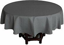 fanjow® Eleganter Jacquard Tischdecke wasserdicht Tisch Bezug Heavy Duty Polyester Tischdecke für Küche Eßzimmer Dekor Tischplatte, Polyester-Mischgewebe, Charcoal Waffle, 178 cm