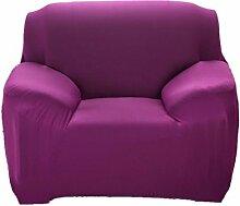 fanjow Farbe Stretch Arm Elastic Sessel Bettüberwurf Polyester Spandex Stoff, Stretch Schonbezug für Stuhl, Liebesschaukel Sofa ohne Kissen, violett, 1-seat Chair