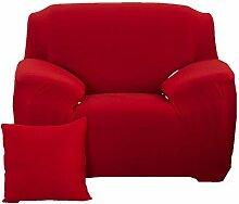 fanjow Farbe Stretch Arm Elastic Sessel Bettüberwurf Polyester Spandex Stoff, Stretch Schonbezug für Stuhl, Liebesschaukel Sofa ohne Kissen, rot, 1-seat Chair