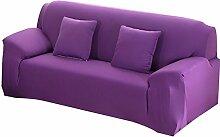 fanjow Farbe Stretch Arm Elastic Sessel Bettüberwurf Polyester Spandex Stoff, Stretch Schonbezug für Stuhl, Liebesschaukel Sofa ohne Kissen, violett, 2-seat Lovesea