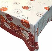 """fanjow® PVC Tischdecke abwischbar Tisch Bezug Country Style Kunststoff Tischdecke öldicht Wasserdicht Tischdecke-auslaufsicher, Crabapple Blossoms, 137cm*180cm/53.94""""*70.87"""