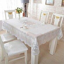 fanjow® PVC Vergoldung Tischdecke hitzebeständig Tisch Bezug länglichen Tisch Runner Floral öldicht Wasserdicht schmutzabweisend Tisch Overlays, PVC, Silver Chinese Rose, 134cm*174cm