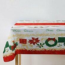 """fanjow® rechteckig, Polyester Tischdecke Rechteck Christmas Tischdecke Lufterfrischer Holiday Tisch Bezug Holly Tischdecke Weihnachten Home Decor, 100 % Polyester, Holly Wreaths, 60""""Wx120""""L"""