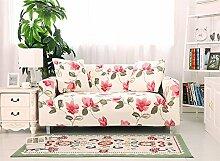 fanjow Stretch Elastischer Stoff Stuhl Liebesschaukel Sofa Couch Strechhusse Floral Druck Sofa Abdeckungen Fahrzeugsitz, ohne Kissen, Textil, Moonlight, 3-seat Sofa