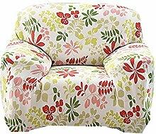 Fanjow Stretch Sofa Schonbezug, Sofa, Stuhl abdeckt, Elastischer Schonbezug für Sofa aus Polyester, Spandex, Bettüberwurf ohne Kissen, Hawaii-Red and Green, 1-seat Chair
