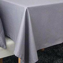 fanjow® Tischdecke aus Baumwolle Solid Rechteckige Tischdecke Wohnzimmer Tisch Staubfrei, Tisch Cover für Küche Eßzimmer Pub Tabletop Dekoration, baumwolle, grau, 140cm*140cm