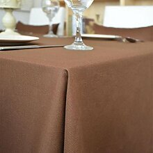fanjow® Tischdecke aus Baumwolle Solid Rechteckige Tischdecke Wohnzimmer Tisch Staubfrei, Tisch Cover für Küche Eßzimmer Pub Tabletop Dekoration, baumwolle, coffee, 140cm*200cm