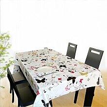 """fanjow® Vinyl Tischdecke Hohe Gewicht Küche Tisch Cover auslaufsicher wasserdichten öldicht mildew-proof Esstisch abwischbare PVC-Tischdecke, Flying Butterflies, 137cm*220cm/53.94""""*86.61"""