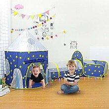 Fanlary 3pc Pop Up Kinder spielen Zelt, 3-in-1