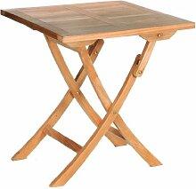 Fano Teakholz-Klapptisch für den Garten, 70x70cm ✓ Wetterfest ✓ Nachhaltig ✓ Robust | Klappbarer Holztisch, Esstisch für draußen | Großer rechteckiger Gartentisch, Terrassentisch aus Massiv-Holz