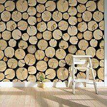 FANPING Dekorative Vinyl Holz Log Baum Tapeten