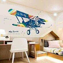 FANPING Flugzeug-Wand-Aufkleber DIY Tapete for