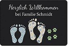 FANPING Fußmatte Feet Mit Familie Namen