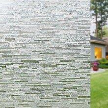 FANPING Holzmaserung Frosted Privatleben-Fenster