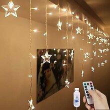 FANPING LED-Vorhang-Licht, Stern-Fee Vorhang