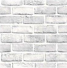 FANPING Retro Ziegelstein-Wand-Aufkleber