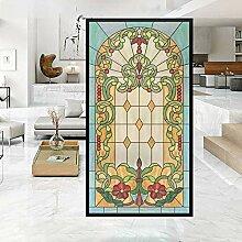 FANPING Vintage Kirche Privacy Fensterfolien,