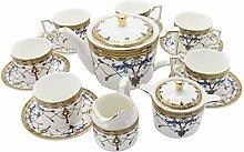 fanquare 15 Stück Englische Keramik Tee-Sets,