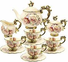 fanquare 15 Stück Rose Blumen Englische Keramik