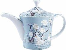 fanquare 27 oz Blau Fine Bone China Kaffeekanne,