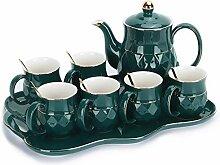 fanquare 8 Stück Englisch Porzellan Tee Sets,