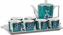 fanquare 8 Stück Englisch Porzellan Tee