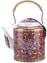 fanquare Bunte Porzellan-Teekanne mit großem