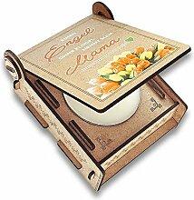 FANS & Friends Geschenk-Box mit Botschaft & Kerze
