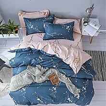 Fansu Bettbezug Bettwäsche Set 4 TLG, Blumen