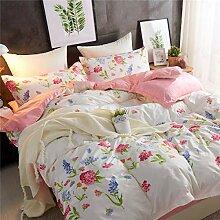 Fansu Bettbezug Bettwäsche Set 4 TLG, Einfach