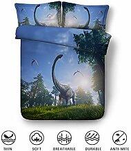 Fansu Bettwäsche Set 3 TLG, 3D Dinosaurier