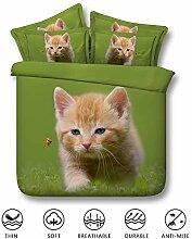 Fansu Bettwäsche Set 3 TLG, 3D Süße Katze