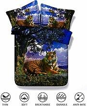 Fansu Tiger Bettwäsche Set 3 TLG, 3D Drucken 3