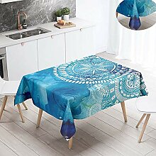 Fansu Tischdecke Abwaschbar Tischwäsche,