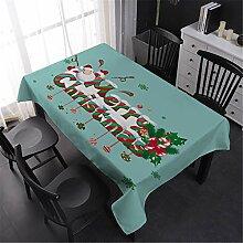 Fansu Weihnachten Rechteckige Tischdecke Eckig