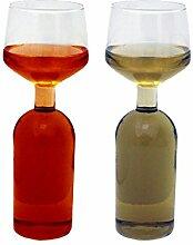 fantaisie Verre à vin double Verre de vin de