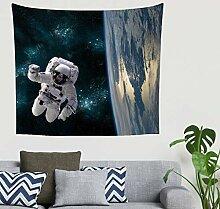 Fantasie Astronaut Planet Erde Sternen Galaxie