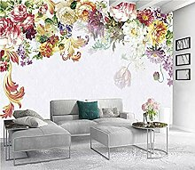 Fantasie Blumen Design 3D Foto Wallpaper