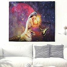 Fantasie Mädchen Tapisserie Schmetterlinge Wand