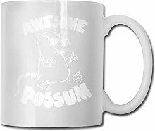 Fantastische Opossum Mode Kaffeetasse Porzellan