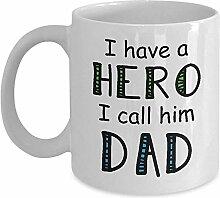 Fantastische Vater-Tasse - ich habe einen Helden,