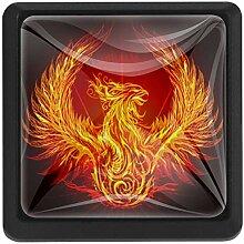 Fantasy Fire Phoenix Schublade zieht Knopf