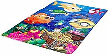 Fantasy Flanell Teppich Deep Water bunt for Kids ca. 130 x 180 cm