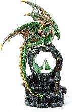 Fantasy grün Dragon über Kristall LED Pyramide