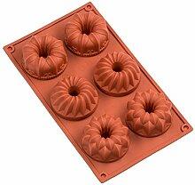 FantasyDay® 6er Silikon Backform/Muffinform für